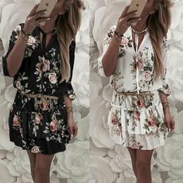 xxl sundresses Desconto Mulheres verão mini evening party beach dress vestido de verão casual babados dress plus size s-xxl
