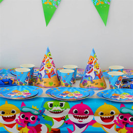 2019 scatola del ricordo del bambino New Shark Birthday Baby Party Party Party Party Special Small Goods and Groceries Souvenir T3I5023 scatola del ricordo del bambino economici
