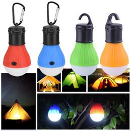 Geformte zelte online-Crestech Kunststoff Zelt Nachtlampe Birnenform Mini LED Licht Komfort Gummi Schalter Energiesparende Hängelampen Top Qualität