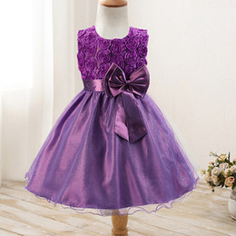 aabbccb78d42 2019 Children Clothes Fashion Princess Dress Girls Dress Summer Cute With  Bow Party Dresses Solid O-Neck Elegant Kids Clothing