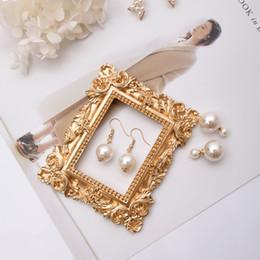 Jóia de moda victoriana on-line-[Ddisplay] resina mini moldura de exibição de jóias de ouro vitoriano moda brinco em pé showcase rose flor pingente suporte titular