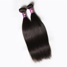 Canada Cheveux vierges brésiliens non transformés droits 6 paquets 100g / pcs bon marché cheveux brésiliens droits trames 100% remy crus de cheveux humains vierges Offre