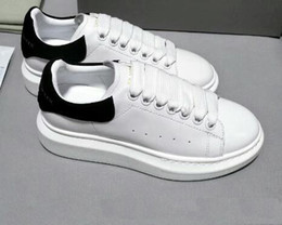2019 moda tênis para homens Alexander McQueen 2019 Designer De Luxo Homens  Sapatos Casuais Barato Melhor b2e3e3e89f383