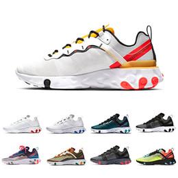 uomini di scarpe da vela Sconti Nike Epic React 87 shoes Total Orange Royal Tint React Element 87 Scarpe da corsa Donna 87s Desert Sand Blue Chill Sail Green Mist Men Trainer Sport Volt Sneakers