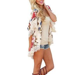 1b19886da41 good quality 2019 New Women Floral Loose Kimono Cardigan Boho Chiffon Coat  Jacket Short Sleeve Coats
