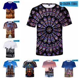 Tallas de camisa cm online-Notre Dame De Paris T-Shirt 3D Print Verano Mujer Hombre Ropa Casual Manga Corta Kpops Camisetas Más Tamaño Tops Tops LJJA2098