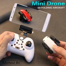 câmera remota quadcopter Desconto Mini zangão altitude hold wi-fi fpv camera quadcopter avião de controle remoto rc s9hw por dhl frete grátis