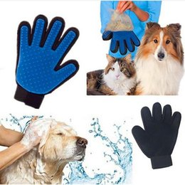 Hundekäfige handschuhe online-Hohe Qualität Tierhaar Handschuh Hund Bürste Kamm für Hundesalon Hund Handschuh Reinigung Massage Versorgung für Tier Finger Reinigung Katze Haar Handschuh