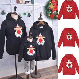 2019 abito di famiglia alikes madre figlia Vestiti di Natale Mamma Papà Bambini Babbo Natale a maniche lunghe Felpa con cappuccio Pullover Felpa Famiglia di abbinamenti caldi Autunno Casual Top