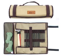 Clavo simple online-Tienda de campaña Martillo de uñas Bolso de mano para acampar al aire libre de alta capacidad Kit de herramientas duradero Tuba Strong Camp Nail Wrap Venta caliente 21 gtI1