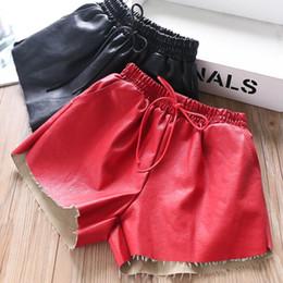 2 renk Pu deri kızlar şort moda çocuklar şort çocuklar giysi tasarımcısı kızlar pantolon çocuk giyim çocuk butik giyim A8052 güz nereden