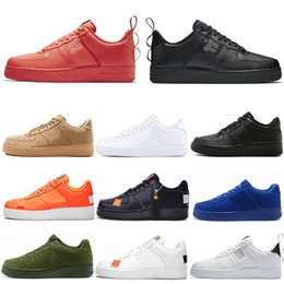 Taglio alto per le donne online-air force 1 AF1 OFF WHITE AF one dunk utility uomo scarpe da corsa donna tennis triple-s bianco nero High Low Cut arancione sneakers firmate sneaker taglia 36-45