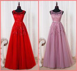 Elegante, frisado, sexy, costas, nu on-line-Vestido De Festa rosa pink a linha lace apliques formal vestido de noite sheer voltar pérolas sensuais frisadas lantejoulas elegantes vestidos de noite venda quente