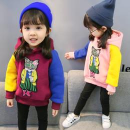09ec2c2df21 Autumn Dress Girl Cartoon Printing Sweater New Pattern Korean Edition  Children Even Cap Bottoming Blouses Children s Clothes Tide