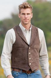 2020 iluminação ocidental vintage Estilo Ocidental Boy Custom Made noivo usa luz Brown Vintage Vest para rústicas do casamento mais tamanhos desconto iluminação ocidental vintage