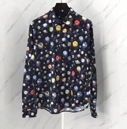 2019 homens da roupa da galáxia 19ss new arrival moda famosa marca designer camisas top manga longa roupas de luxo para homens galaxy retro vintage camisas homens da roupa da galáxia barato