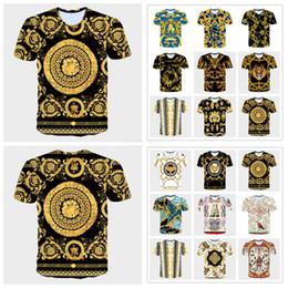 Camiseta larga vestido hombres online-Medusa Impreso Camiseta de Manga Larga Hombres Lion Head Verano 3d blusa de impresión Vestidos Tops Blusa LJJA2309