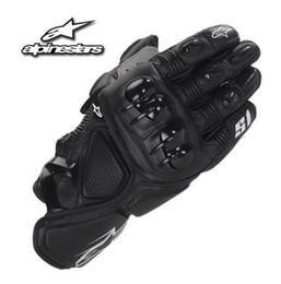 Gants pour moto en Ligne-Nouveau MOTO GP racing gants en cuir moto moto gants moto hors route moto gants S1 court paragraphe