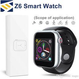 bluetooth fitbit smart watch Скидка Z6 Sport Smart Watch Bluetooth 3.0 Fitbit Tracker с сенсорным экраном камеры SmartWatch 1,54 дюйма Поддержка Android Телефон Sim TF карта PK DZ09
