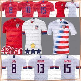 Camisas de futebol de qualidade eua on-line-2020 Homens América Futebol jersey McKennie LLOYD KRIEGER EUA MORGAN personalizado Pulisic Weah Tailândia qualidade superior Jersey