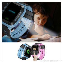 support intelligent compatible apple ios Promotion Anti-Perdu Montre Smart Watch Bracelet GPS Tracker SOS Appel Location Finder Pour Enfants Enfants Compatible pour iPhone Smartphones Écran Tactile Support