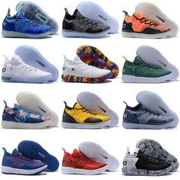 ce870e29b61 2018 New Arrival KD XI 11 EP Oreo Ice Blue Sports Basketball Shoes for Top  quality Mens Kevin Durant 11s Trainers Designer Sneakers US 40-46