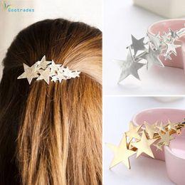 1 UNID Nueva Moda Aleación Estrellas Barrettes Mujeres Pinzas Para el  Cabello Vintage Plata Oro Horquillas para el Cabello Accesorios para el  Cabello Niñas ... 2ba1d5a81ed2