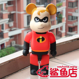 Superman spielzeug frei online-Kaws 28 cm 400% Bearbrick Superman Action Figure Sammeln Modell Hot Toys Geburtstagsgeschenke Puppe Neue Arrvial PVC Freies Verschiffen