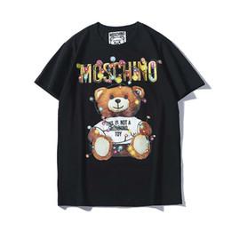 0488a940528259 2019Newest Summer fashion Beste mens designer t-shirts männer und frauen  Cartoon Druck von Bär Kurze Ärmel mit Farbigen Glühlampen T-shirt