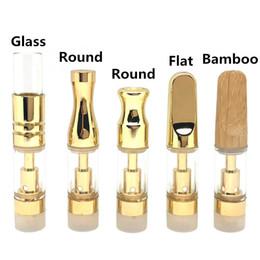 Cartucce a spirale in vetro olio spesso oro TH205 TH210 Cartuccia a spirale in ceramica con punta a goccia in bambù / metallo / vetro 0,5 ml 1,0 ml 510 Atomizzatore filo cheap thick bamboo da bambù di spessore fornitori