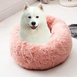 2019 cuscini cucciolo Morbidi lavabili lunghi Basi del cane peluche letto Kennel profondo sonno Dog House velluto Mats divano letto per Chihuahua Dog Bad