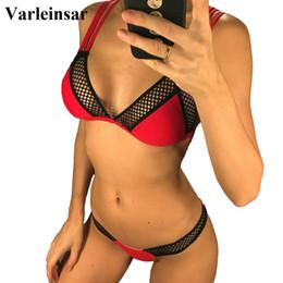 3d4ebe2fec 2019 Sexy Mesh Brazilian Bikini Women Swimwear Female Swimsuit Two-piece  Bikini set Bather with V shape Bottom Bathing Suit V971 female swimsuit two  piece ...