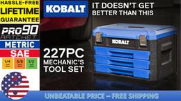 Tool Set Kobalt 227 peças padrão (SAE) e Metric polido do mecânico Chrome de