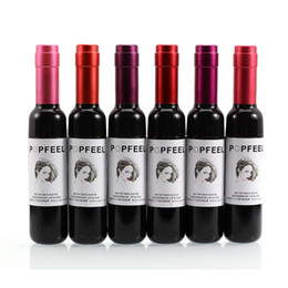 disegno di bottiglia liquido Sconti 6pc Bottiglia di vino Design Lip Tint Kit liquido Lipgloss impermeabile Long Lasting Stained Glaze Liquid Lip Gloss Labbra trucco del tatuaggio