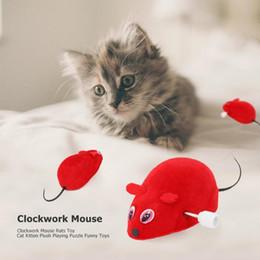 Giocattoli economici Divertente animale domestico Gatto Topi topo Giocattolo Orologio da topo Ratti Giocattolo per Cat Kitten Mouse interattivo di peluche Gioco divertente cheap cheap plush cats da gatti peluche a buon mercato fornitori