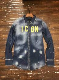 2019 camisas de algodão denim DSENQI Mens Denim Camisa de Manga Longa de Algodão Jeans Cardigan Camisas Casuais Homens Tops Roupas c12 camisas de algodão denim barato