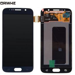мобильный телефон lcd оптом Скидка ORIWHIZ для Samsung Galaxy S6 G920 G920F G920i G920a части сотового телефона сенсорные панели дигитайзер с ЖК-дисплеем сборка оптом