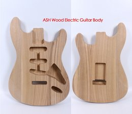gitarren-tuning-teile Rabatt Strat E-Gitarrenkörper Ersatz ASH Holz Gitarrenzubehör SSS Style