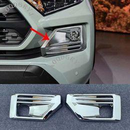 Toyota rav4 крышка автомобиля онлайн-Car Styling Accessories ABS Chrome Front Fog Light Lamp Molding Cover Trim 2pcs For Toyota RAV4 TRD 2019-2020