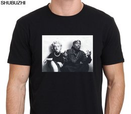 t shirts marilyn monroe Coupons - Fashion Design Free Shipping Legends Tupac Marilyn Monroe Men'S Crew Neck Short-Sleeve Printing Machine T Shirts