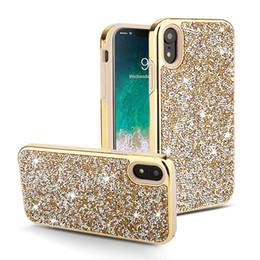 2019 casos sumsung s6 New Chegou Moda Luxo bling Diamante 2 em 1 phone case Para iPhone X XR XS MAX 7 mais 8 plus 6 s plus samsung s9 s8 além de nota 8 nota 9