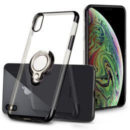 Canada Pour iPhone X XS Max 8 7 Effacer TPU Cas Transparent Doux Silicone Couverture souple Titulaire Anneau Stand Pour Huawei Mate 20 Samsung Offre