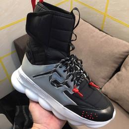 Nuovo arrivo Mens High Top Reaction Chain 2 Sock Boots Womens Fashion Casual Boot Luxury Designer scarpe con scatola da