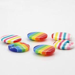 200 unids 15 mm Fabricante Botón Resina Siete colores camisas de la raya Botón de gama alta para niños suéteres, abridores, botones DIY Candy al por mayor desde fabricantes