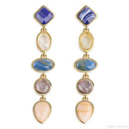 Supporto in resina online-3 colori chic orecchini di lusso orecchini accessori moda gioielli orecchini orecchino posteriore borchie per donne all'ingrosso