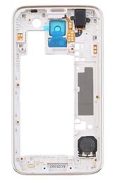 2019 iphone 5c capa da habitação traseira Prata meio quadro de volta habitação com lente da câmera bisel para samsung galaxy s5 i9600 g900f g900h com epacket frete grátis