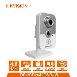 Macchina fotografica del cubo wifi online-IP Camera WIFI sistema di allarme cam DS-2CD2442FWD-IW Wireless Cube webcam 4.0MP sorveglianza videcam CCTV Webcam