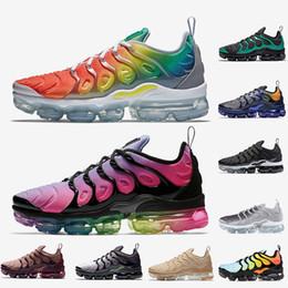 2019 juegos de arcoiris Nike Air Vapormax Plus VM TN Plus Zapatos para correr Rainbow BETRUE Smokey Mauve Game Royal Grape Fades Blue zapatos para hombre zapatos de diseñador para mujer eur 36-45 juegos de arcoiris baratos