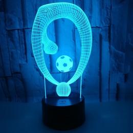 New Pattern Football Ginnastica artistica 3d Piccola luce notturna Telecomando colorato Touch Led Lampada Originalità regalo Piccola lampada da tavolo da