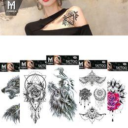 Tatuagem Temporária À Prova D 'Água Adesivos Totem Flor Tatuagem Falsa Flash Tattoo Body Art Mão Pé para Menina Mulheres Homens RRA1409 de